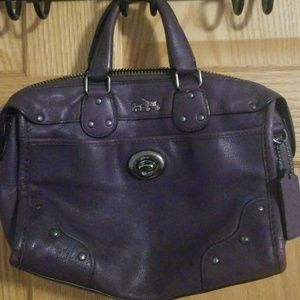 Coach Leather Purple Penelope Purse/Bag .